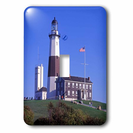 3dRose Montauk Lighthouse, Montauk Point, Long Island, New York, USA - Single Toggle Switch ()