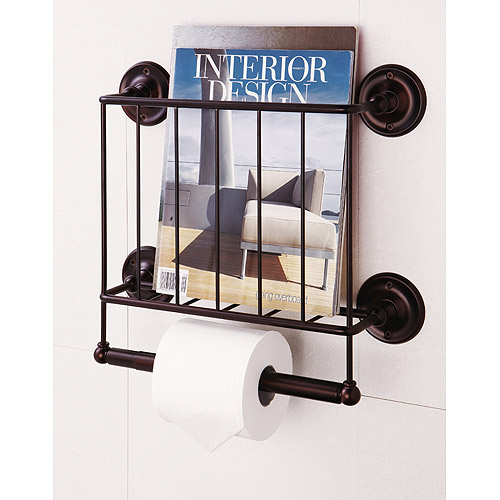 Wall Mount Magazine Rack, Oil Rubbed Bronze