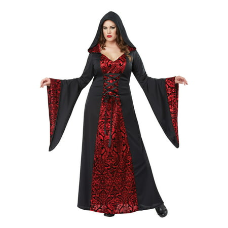 Gothic Robe Plus Size Costume - Gothic School Girl Costume