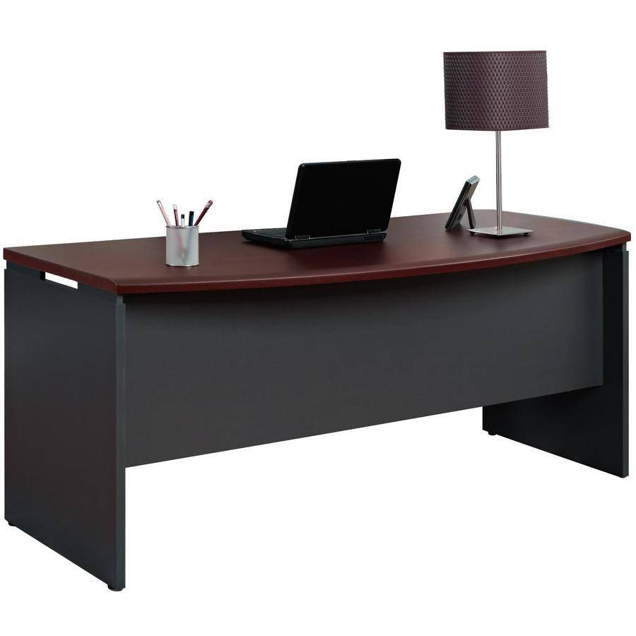 Ameriwood Home Pursuit Executive Desk Cherry Gray