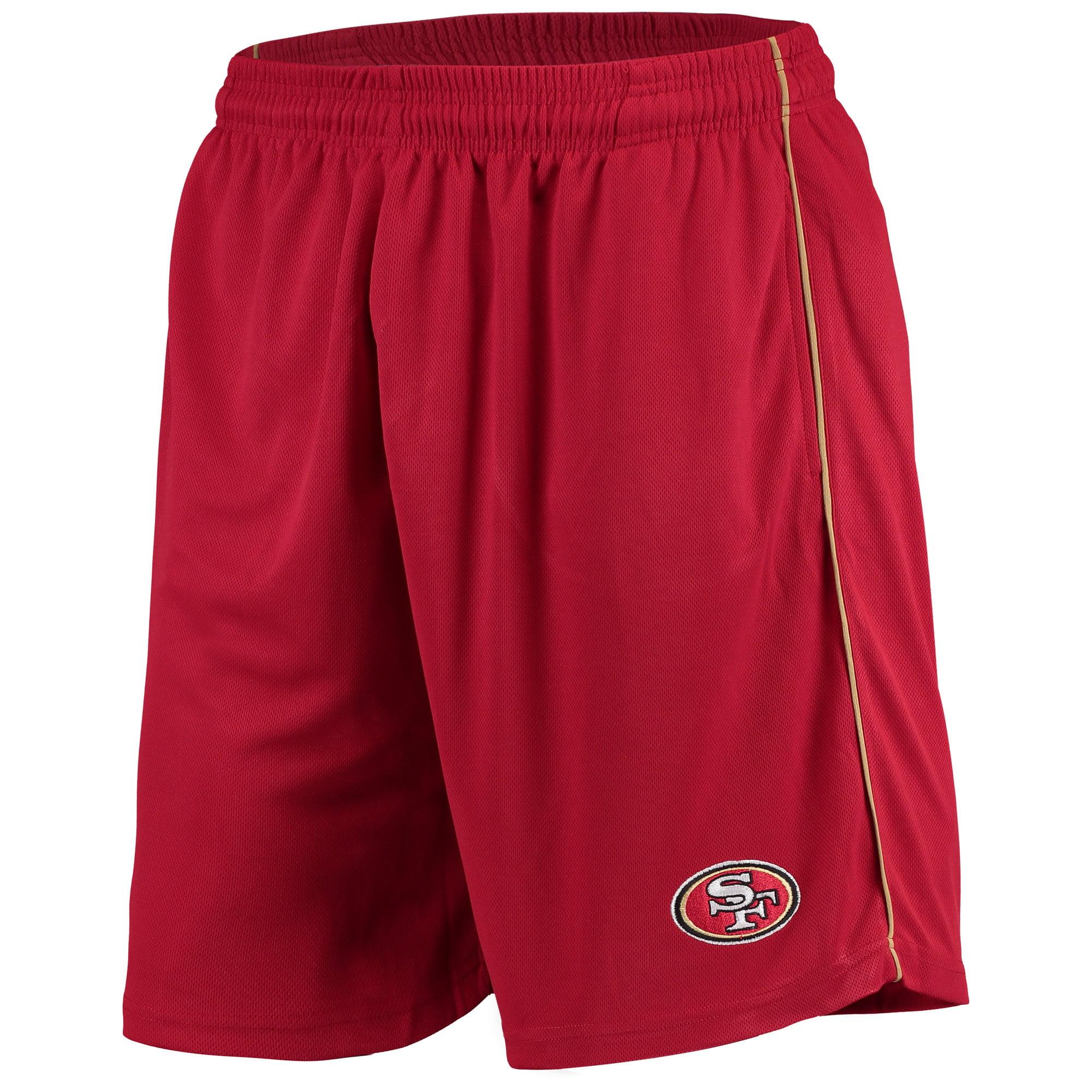 Men's Majestic Scarlet San Francisco 49ers Mesh Shorts