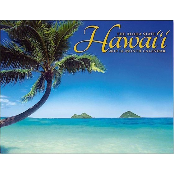 Hawaii School Calendar 2019-16 Hawaii the Aloha State, 2019 16 Month Trade Calendar, November