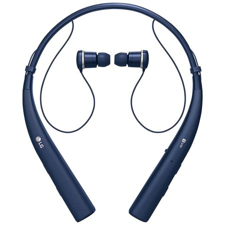 LG TONE PRO In-Ear Earbuds Headphones Bluetooth Wireless Neckband Headset with Mic, Blue (New Open Box) ()