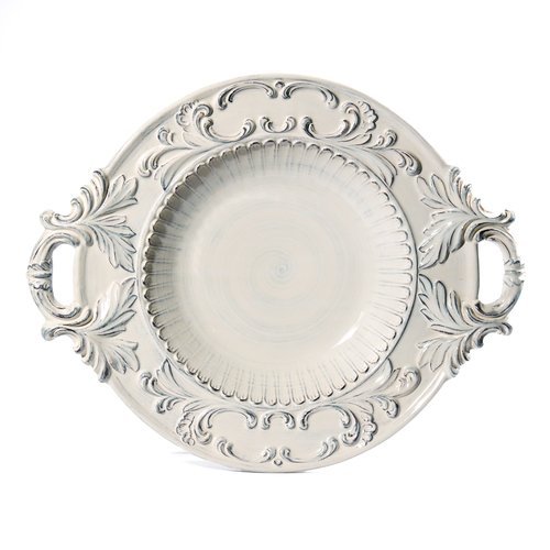 Intrada Italy Baroque Round with Handles Pasta Bowl by