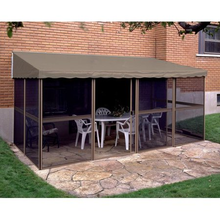 gazebo penguin add a room 15 ft w x 7 5 ft d aluminum gazebo. Black Bedroom Furniture Sets. Home Design Ideas