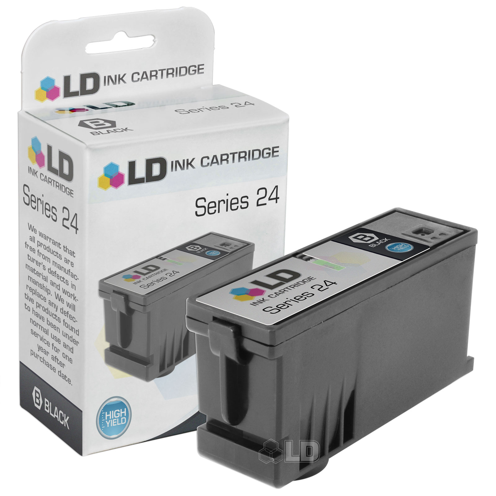 LD Compatible T109N / 330-5287 (Series 24) High Yield Black Ink Cartridge for Dell P713w and V715w