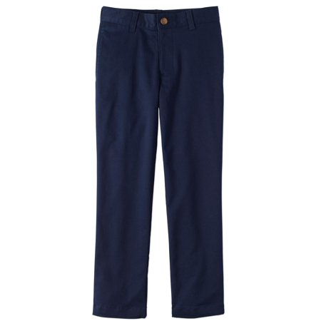 Wonder Nation Boys Slim 4-14 School Uniform Super Soft Stretch Twill Flat Front Pants