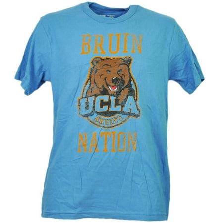 NCAA UCLA California Bruins Distressed Tshirt Tee Blue Mens Short Sleeve XLarge Ncaa Logo Short Sleeve T-shirt