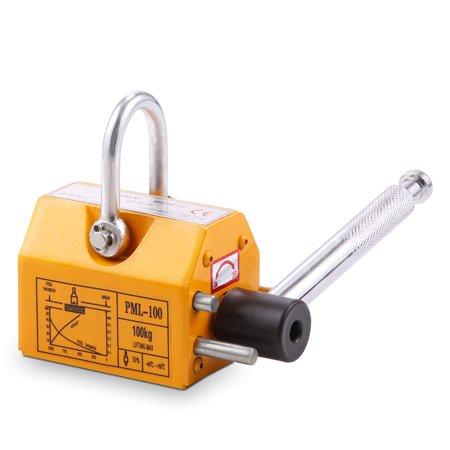 BestEquip Steel Magnetic Lifter 220 LB Metal Lifting Magnet 100 KG Neodymium Magnetic Lift Hoist Shop Crane