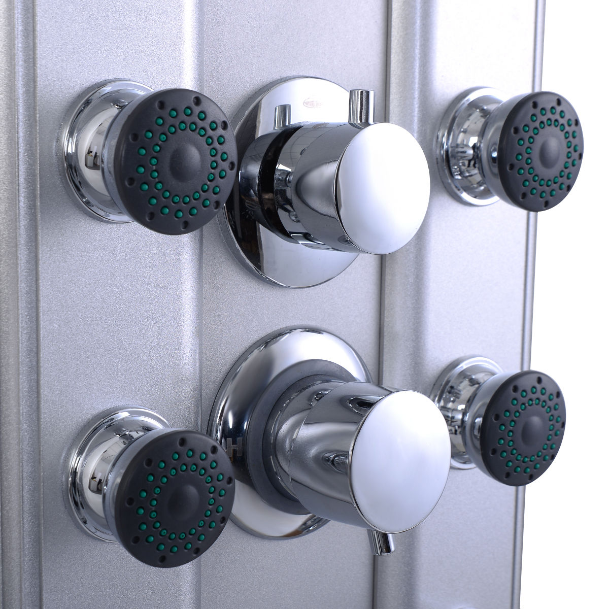 Costway 46\'\' Bathroom Aluminum Shower Panel Thermostatic Tower w/ 10 ...