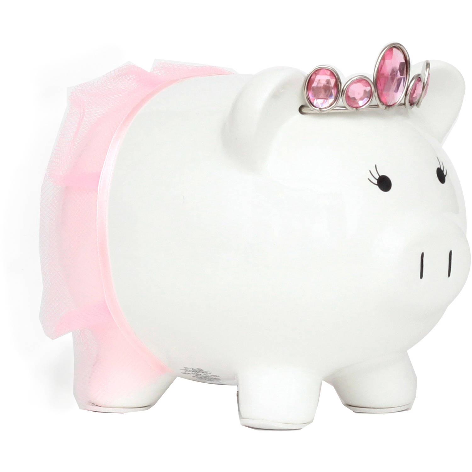 White Princess Piggy Bank Walmart Com