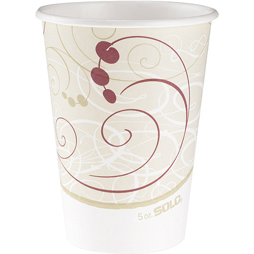 Solo 12-Ounce Hot Cups, Symphony Design Beige, 1000 count