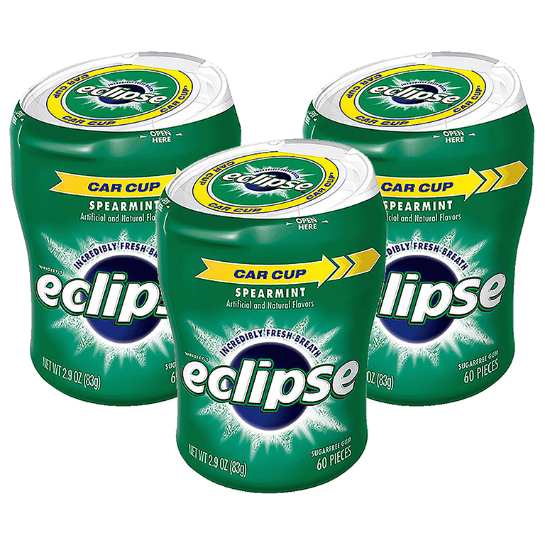 (6 Pack) Eclipse, Sugar Free Spearmint Chewing Gum, 60 Pcs