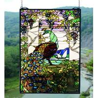 Meyda Tiffany 50562 Tiffany Glass Stained Glass Tiffany Window From The Tiffany Peacock