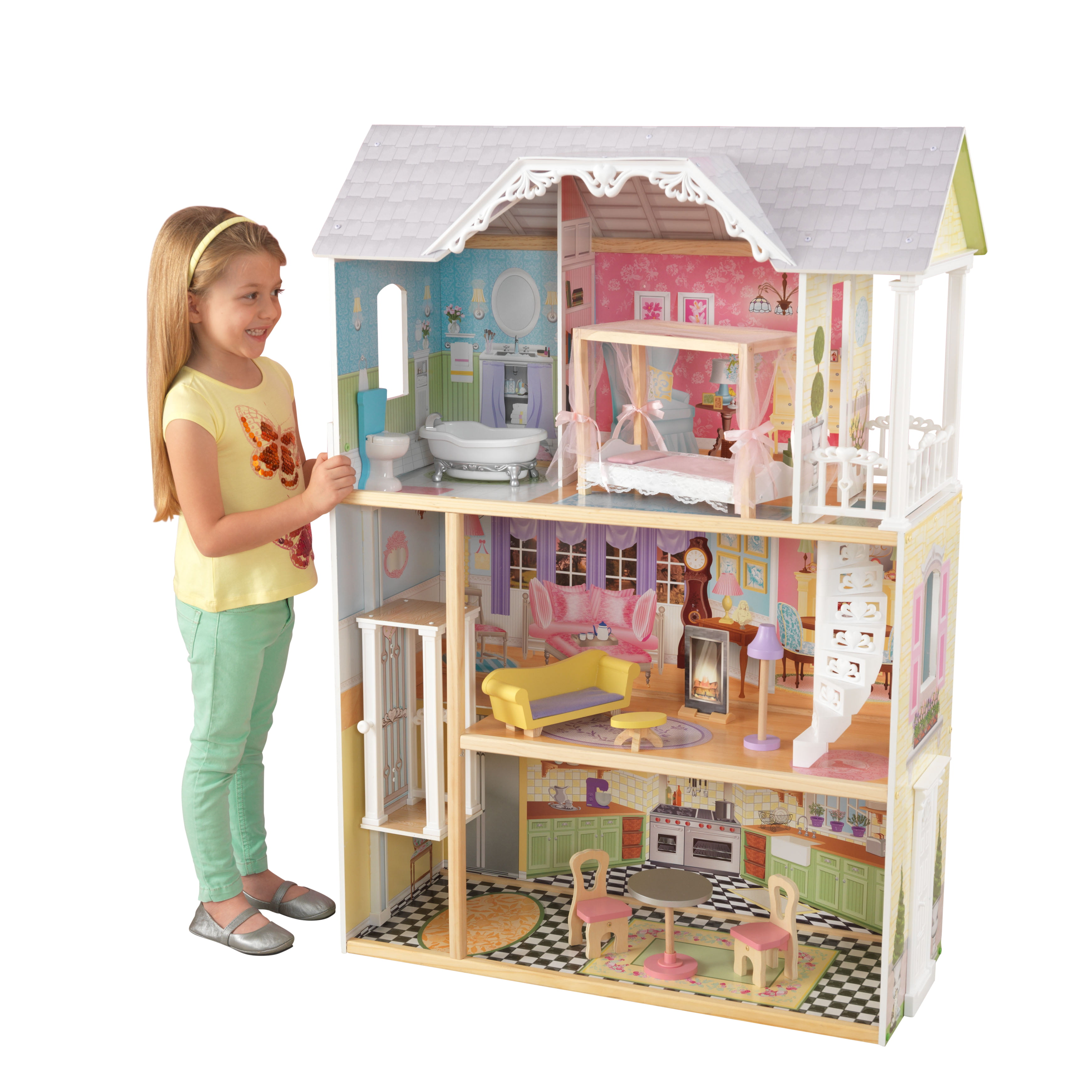 KidKraft Kaylee Dollhouse with 10 accessories included by KidKraft
