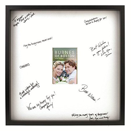 Burnes of Boston Black Frame with a Signature Mat, 20-Inch by 20-Inch