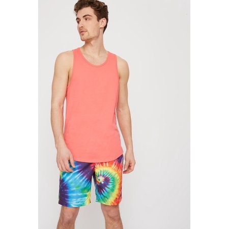 Urban Planet Men's Rainbow Tie Dye Swim Trunk - image 4 of 5