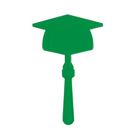 Fun Express - Green Mortar Board Clapper for Graduation - Toys - Noisemakers - Hand Clappers - Graduation - 12 Pieces - Light Clappers