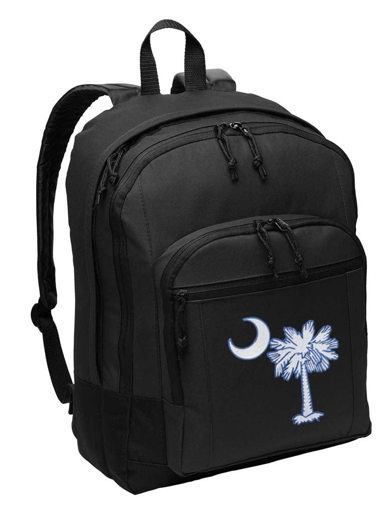 Drawstring Sports Backpack South Carolina Flag Men /& Women Home Travel Shopping Rucksack Shoulder Bags