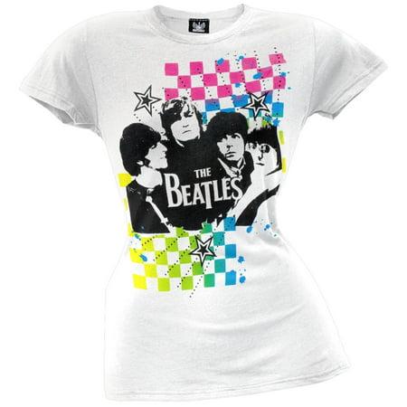 The Beatles - Neon Checkers Juniors T-Shirt