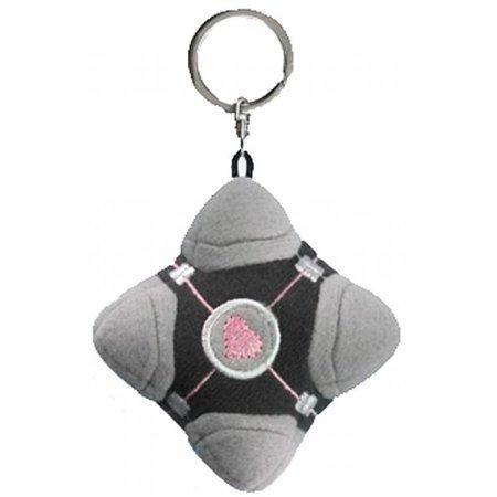 Portal 2 Compaion Cube Plush Keychain [Original Version] - Portal Companion Cube