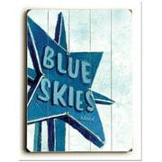 ArteHouse 0003-2592-31 Blue Skies Vintage Sign