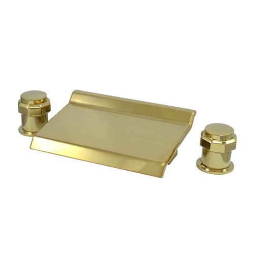 Kingston Brass KS224.AR Milano Waterfall Roman Tub Filler Faucet with Metal Knob
