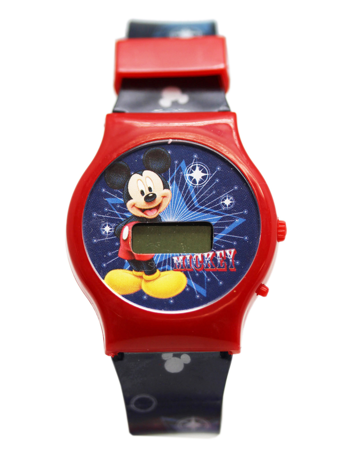 Disney's Mickey Mouse Red Dial/Blue Band Kids Digital Screen Watch