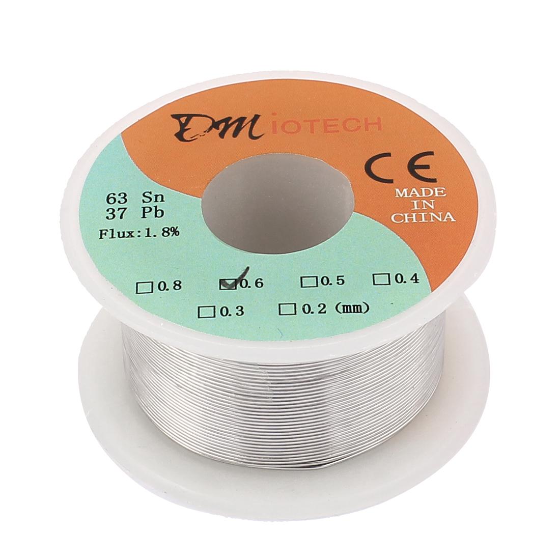 DMiotech 0.6mm 50g 63/37 Tin  Roll Soldering Solder Wire Reel Spool