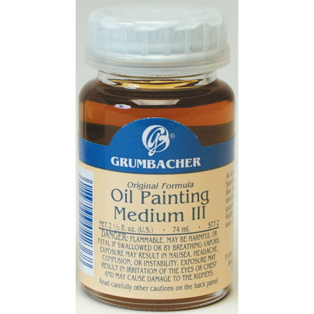 Grumbacher Oil Painting Medium III, Rapid Dry, 2.5 oz.