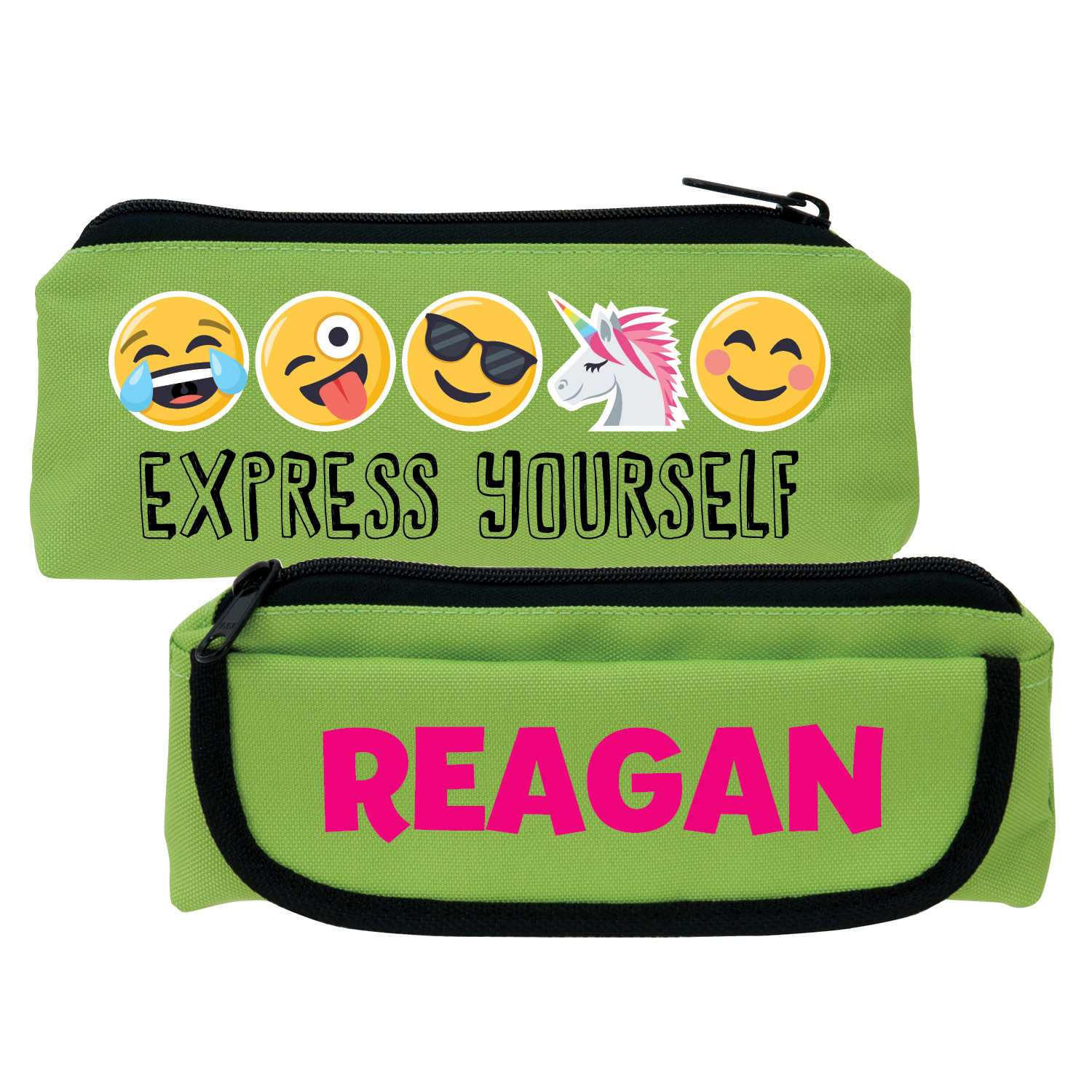 Emoji Express Yourself Green Pencil Case