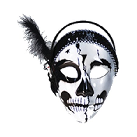 Day Of The Dead Female Skull Venetian Carnival Mask Costume Accessory
