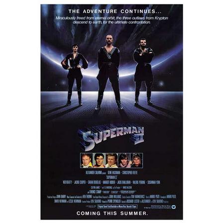 Superman 2 (1981) 11x17 Movie Poster