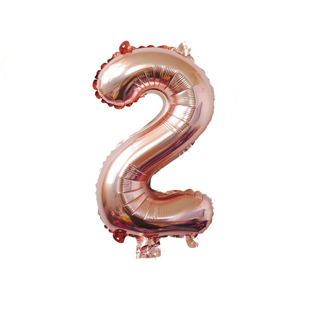 40 Inch Rose Gold Number Foil Helium Balloon for Birthday Party Decoration