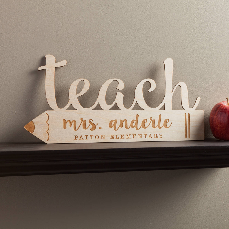 Special Teacher Personalized Wood Keepsake