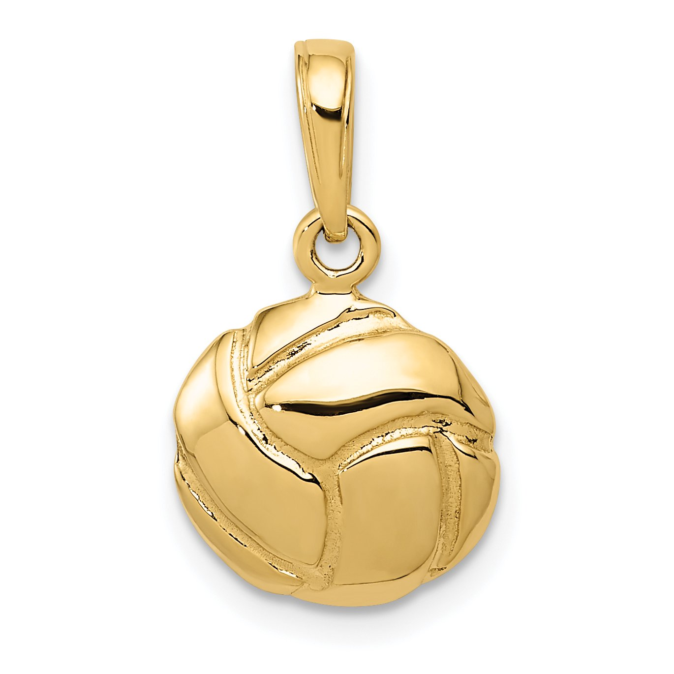 Solid Volleyball Pendant Charm Necklace