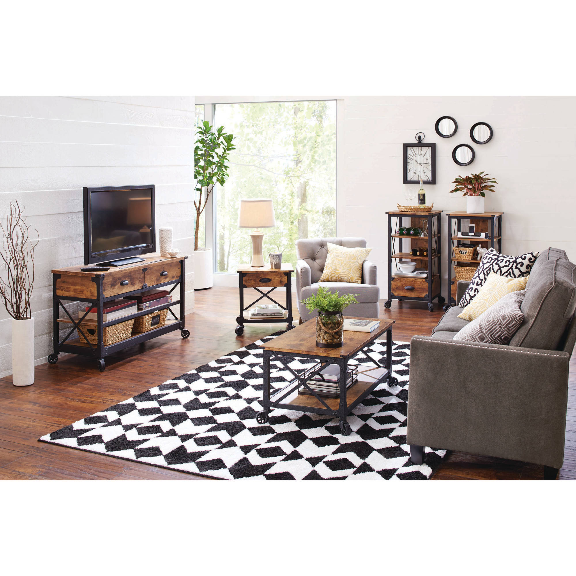 Better Homes and Gardens Rustic Country TV Stand Home Entertainment Set