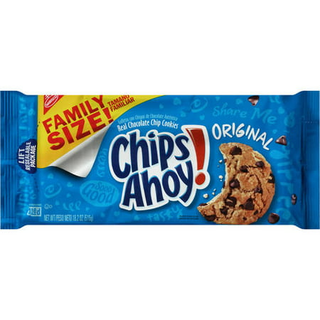 (2 Pack) Nabisco Chips Ahoy! Original Chocolate Chip Cookies, 18.2 oz Chocolate Dipped Fortune Cookies