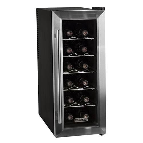 "Koldfront TWR121 10"" Wide 12 Bottle Wine Cooler with Slim Fit and Thermoelectric Cooling"