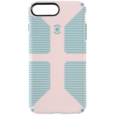 brand new d1eb9 4e1ac Speck CandyShell Grip Case for Apple iPhone 8 Plus, iPhone 7 Plus, and  iPhone 6 Plus, Pink/Teal