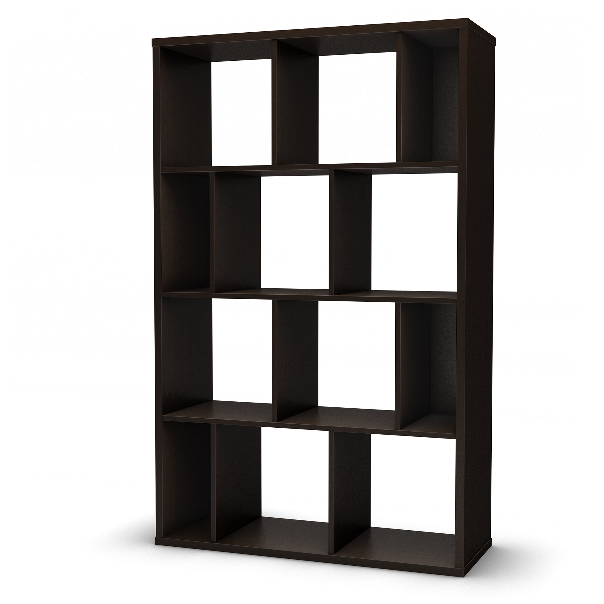 South Shore Reveal Shelving Unit with 12 Compartments, Multiple Finishes