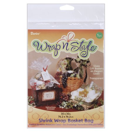 Wrap n Style Shrink Wrap Basket Bag 1/Pkg-30