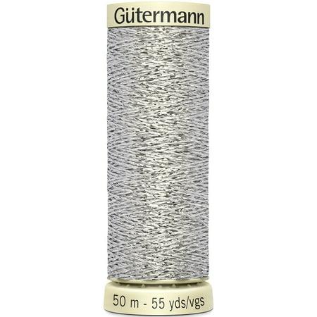 - Gutermann Sparkle Metallic Thread 50m-Silver