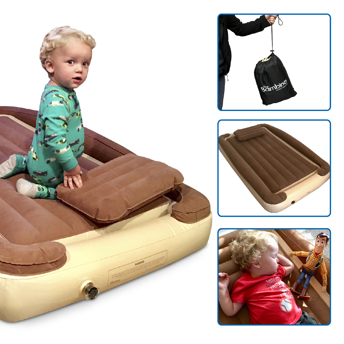 Bambino Bed – Inflatable Toddler Bed with Inflatable Rails ...