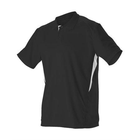 Alleson Men's Game Day Polo - Black/White - Large