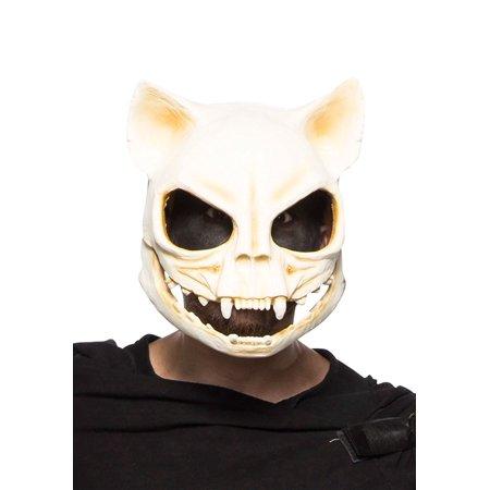 Adult Cat Mask (Cat Skull Adult Latex Costume)