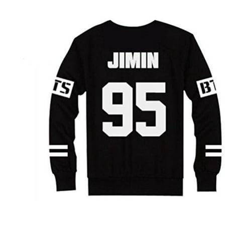 Bts Bangtan Boys Black Hoody Sweater Pullover  Jimin  Xxl