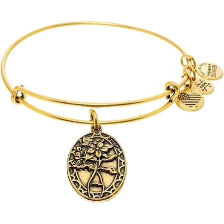 Alex And Ani Womens Because I Love You Friend Periwinkle Bangle Bracelet