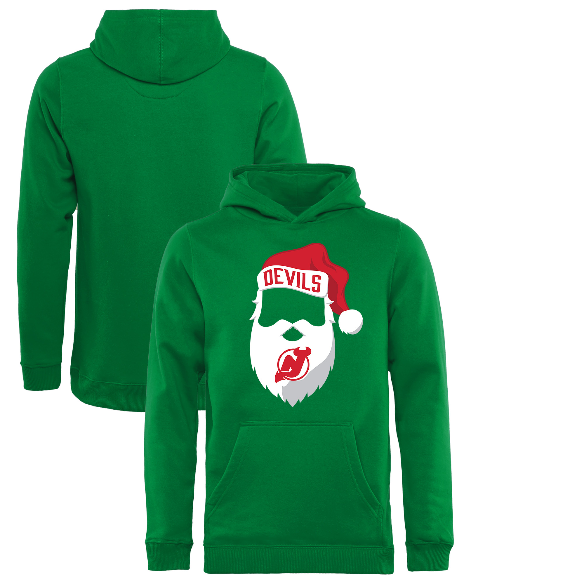 New Jersey Devils Fanatics Branded Youth Jolly Pullover Hoodie - Kelly Green