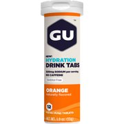 GU Hydration Drink Tabs: Orange Box of 8 Tubes